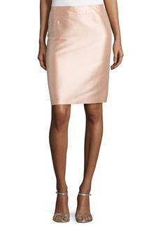 Escada High-Waist Pencil Skirt, Desert Rose