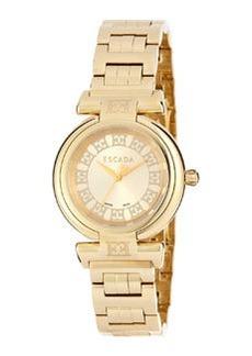 Escada Ion Gold-Plated Stainless Steel Three-Hand Lauren Watch
