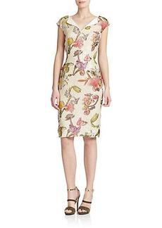Escada Jacquard Floral-Print Dress