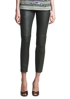 Escada Leather Leggings