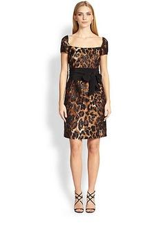Escada Leopard Jacquard Dress