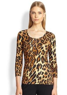 Escada Leopard-Print Knit Tee