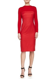 Escada Long-Sleeve Sheath Dress