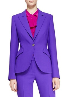 Escada Long-Sleeve Wool Blazer, Purple