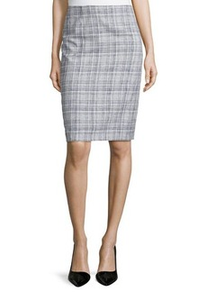 Escada Low-Rise Pencil Skirt, Navy
