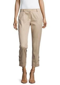 Escada Low-Rise Slim-Fit Cropped Pants, Savannah