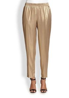 Escada Metallic Silk Trousers