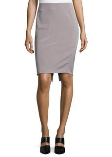 Escada Mid-Rise Pencil Skirt, Platinum