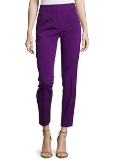 Escada Mid-Rise Tapered Crop Pants, Iris
