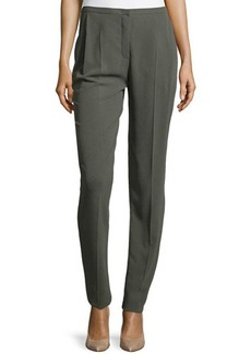 Escada Moderate-Rise Tapered Gabardine Pants