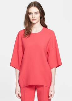 ESCADA 'Naris' Stretch Wool Crepe Top