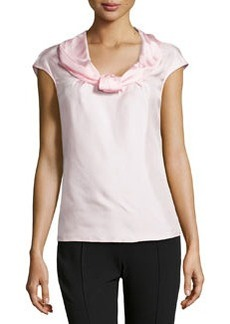 Escada Nuri Sleeveless Silk Shell Top, Light Pink