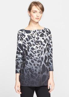 ESCADA Ombré Leopard Print Jersey Top