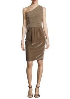 Escada One-Shoulder Draped Dress