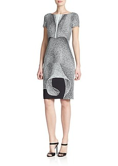 Escada Orchid-Print Dress