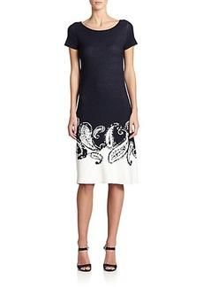Escada Paisley Intarsia-Knit Dress