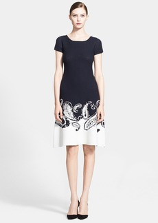 ESCADA Paisley Knit A-Line Dress