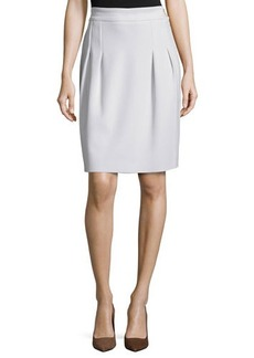 Escada Pleated-Front Mid-Rise Skirt, Opal