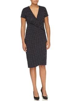 Escada Polka-Dot Wrap Dress