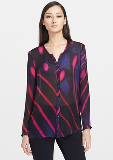 ESCADA Print Silk Blouse