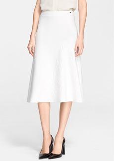 ESCADA 'Santal' Jacquard Detail A-Line Skirt