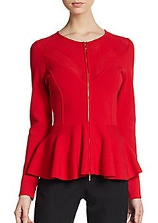 Escada Scuba Knit Peplum Jacket
