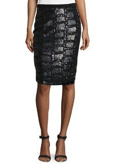 Escada Sequined Front Pencil Skirt
