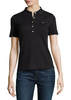 Escada Short-Sleeve Pique Polo Shirt, Black