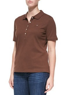 Escada Short-Sleeve Polo, Brown