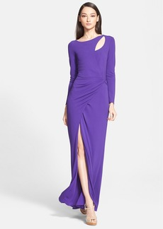 ESCADA Side Wrap Jersey Gown