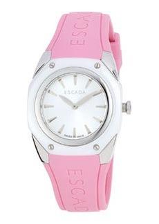 Escada Silicone Two-Hand Quartz Naomi Watch, Pink
