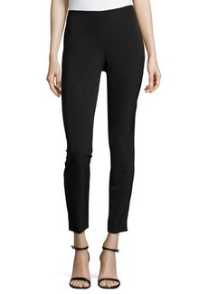 Escada Skinny Low-Rise Cropped Pants, Black