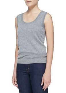 Escada Sleeveless Cashmere Top, Gray