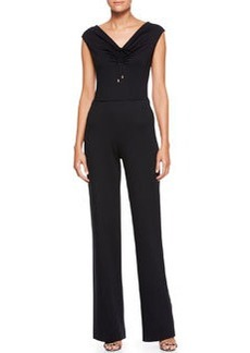 Escada Sleeveless High-Waist Jumpsuit, Black