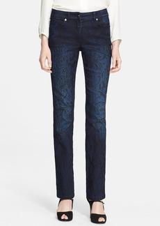 ESCADA Slim Paisley Print Jeans