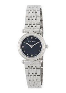 Escada Stainless Steel Mini Diamond Vanessa Watch, Black