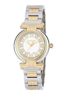 Escada Stainless Steel Three-Hand Lauren Watch w/ Ion Gold