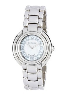 Escada Stainless Steel Two-Hand Ivory Watch