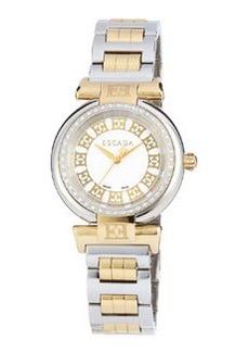 Escada Stainless Steel Two-Hand Lauren Watch w/ Ion Gold