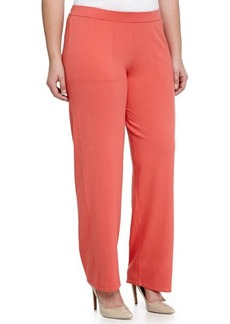 Escada Straight-Cut Knit Pants, Poppy