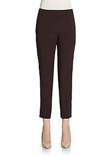Escada Straight-Leg Silk Dress Pants
