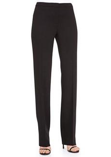Escada Straight-Leg Wool Pants, Black