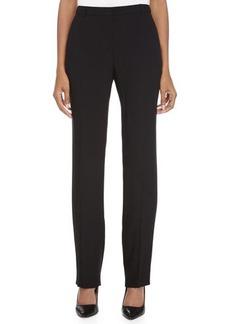 Escada Straight-Leg Woven Pants, Black