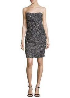 Escada Strapless Embellished Sequin Dress, Granite