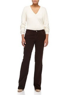 Escada Stretch Corduroy Jeans, Dark Brown