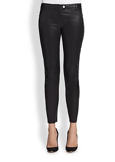 Escada Stretch Leather Leggings