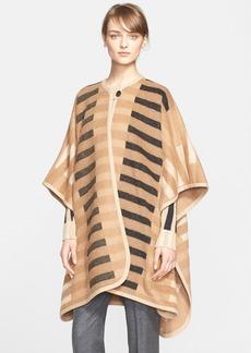 ESCADA Stripe Camel Hair Poncho