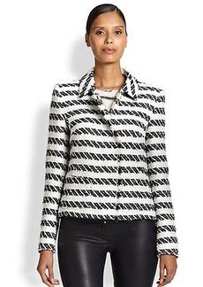 Escada Striped Tweed Jacket