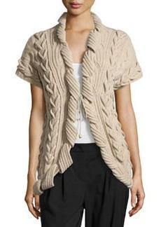 Escada Sulmani Chunky Knit Vest, Light Beige
