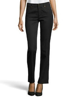 Escada Tessa Twill Ankle Pants, Black